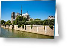 Notre Dame Cathedral And The Seine Greeting Card