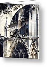 Notre Dame Cathedral Architectural Details Greeting Card
