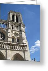 Notre Dame Cathedral Paris Tower Greeting Card