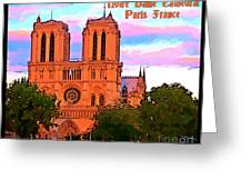 Notre Dame Cathedral Poster Greeting Card