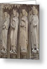 Notre Dame Cathedral Saints Greeting Card