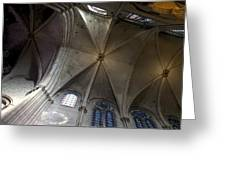 Notre Dame Ceiling South Greeting Card