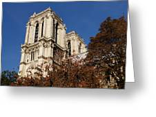 Notre-dame De Paris - French Gothic Elegance In The Heart Of Paris France Greeting Card