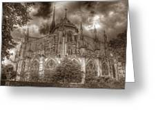 Notre Dame From East Garden Greeting Card
