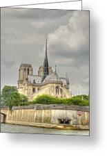 Notre Dame From The Seine Greeting Card
