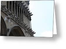Notre Dame Gargoyle Row - Dijon Greeting Card