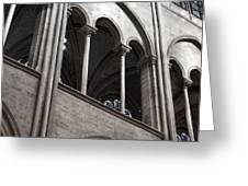 Notre Dame Gothic Arches Greeting Card