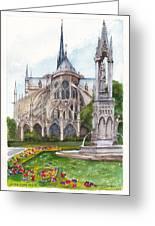 Notre Dame Paris In Spring Greeting Card