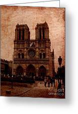 Notre Dame - Paris Greeting Card by Soumya Bouchachi