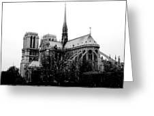 Notre Dame Greeting Card by Rita Haeussler