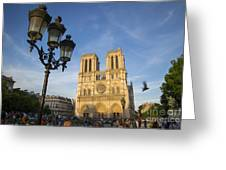 Notre Dame Tourists Greeting Card
