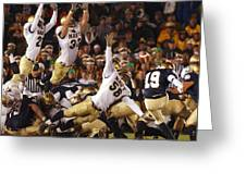 Notre Dame Versus Navy Greeting Card