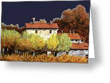 Notte In Campagna Greeting Card by Guido Borelli
