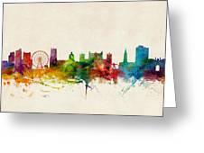 Nottingham England Skyline Greeting Card