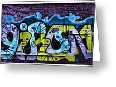 Nouveau Graffiti Greeting Card