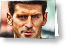 Novak Djokovic Greeting Card by Nishanth Gopinathan