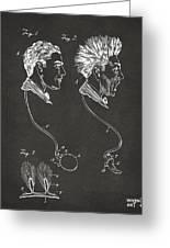 Novelty Wig Patent Artwork Gray Greeting Card