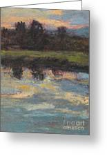 November Reflection - Hudson Valley Greeting Card by Gregory Arnett