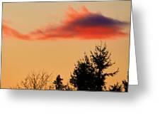 November Sunset IIi Greeting Card