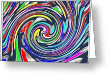 Novino Signature Art Walking Fine Lines Twirl Background Designs  And Color Tones N Color Shades Ava Greeting Card
