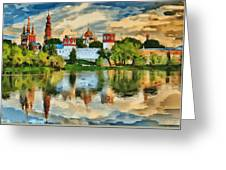 Novodevichy Monastery In Moscow Greeting Card