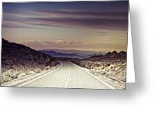 Nowhere  Greeting Card by Merrick Imagery