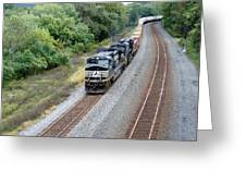 Ns 9629 Lead Intermodal Greeting Card