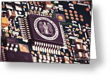 Nsa Computer Chip Greeting Card