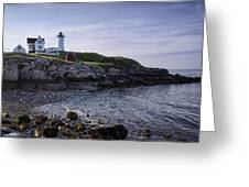 Nubble Dawn Greeting Card by Joan Carroll