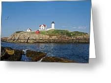 Nubble In The Day 20x30 Greeting Card