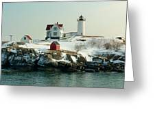 Nubble In Winter Greeting Card