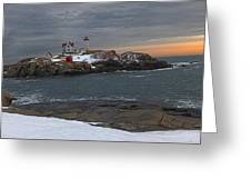 Nubble Light Christmas Greeting Card