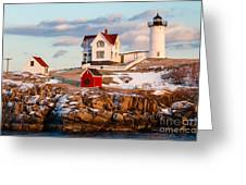 Nubble Light York Maine Greeting Card