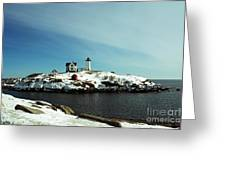 Nubble Lighthouse 3 Greeting Card