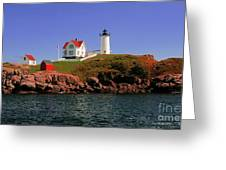 Nubble Lighthouse-cape Neddick Greeting Card