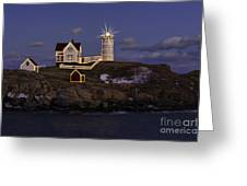 Nubble Lighthouse Ll Greeting Card