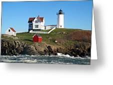 Nubble Lighthouse One Greeting Card