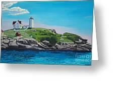 Nubble Lighthouse Sunrise Greeting Card