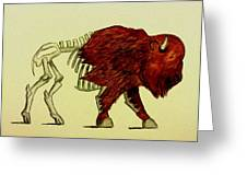 Nuclear Buffalo Greeting Card