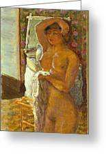 Nude Against The Light Greeting Card by Granger