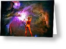 Nude Amongst The Stars 3... Greeting Card