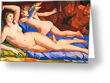 Nude Art Painting Greeting Card