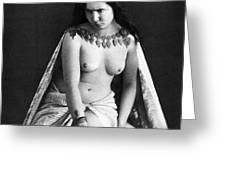 Nude As Ancient Ruler Greeting Card