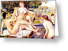 Nude Bathers Greeting Card