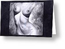 Nude Details - Digital Color Version Frame Blue Greeting Card