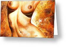 Nude Details Greeting Card by Emerico Imre Toth