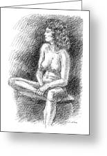 Nude Female Sketches 2 Greeting Card