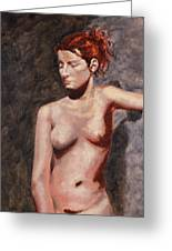 Nude French Woman Greeting Card