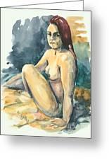 Nude II Greeting Card