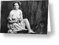 Nude In Field, C1850 Greeting Card